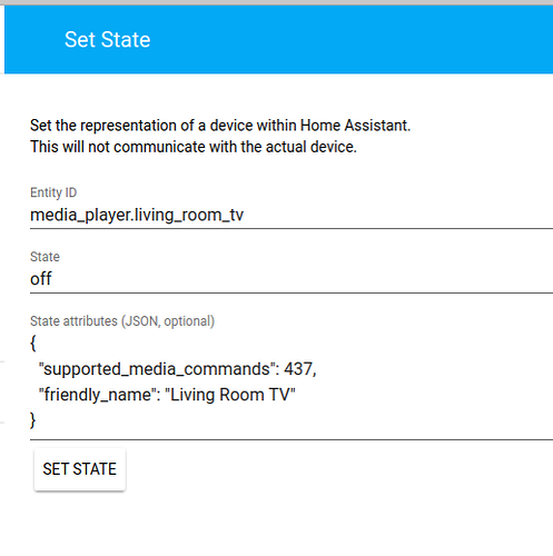 Home Assistant Set State Attributes