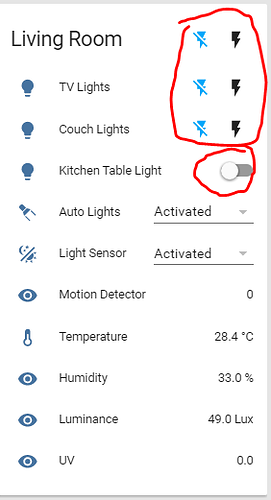 Differing Icons For Switches Toggles Configuration