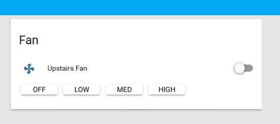 Fan Speed Control - Configuration - Home Assistant Community