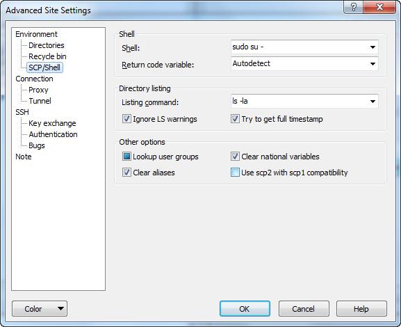 Access Denied saving configuration yaml using winscp - Installation