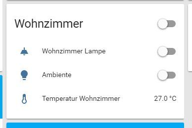 temperatur readings / power consumption for dect 200, Wohnzimmer
