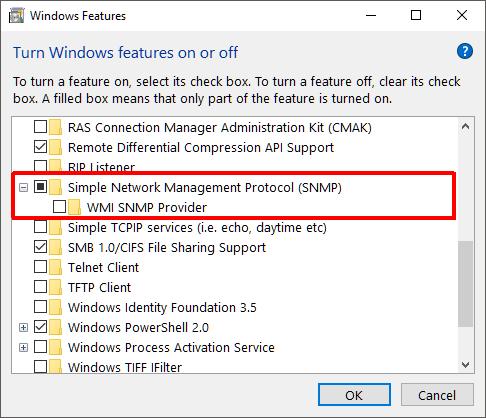 Using SNMP sensor on Windows clients to track uptime and