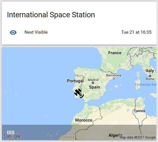 Iss binary sensor doesnt seem to update until hass is restarted it seems that once the next visible time has passed it does not update to show when the next pass will be and the map showing the location of the iss gumiabroncs Choice Image